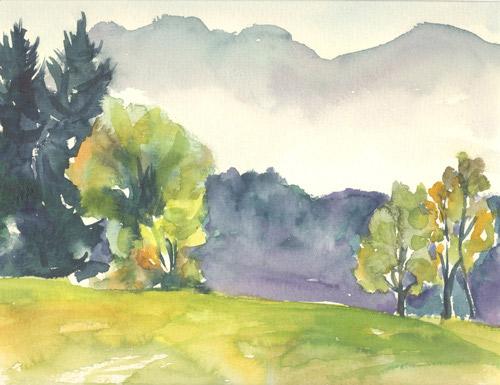 Klemz: paisaje en Murnau III