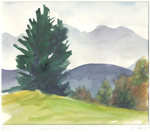 Klemz: landscape drawing II (Auerberg) {signes de paysage}