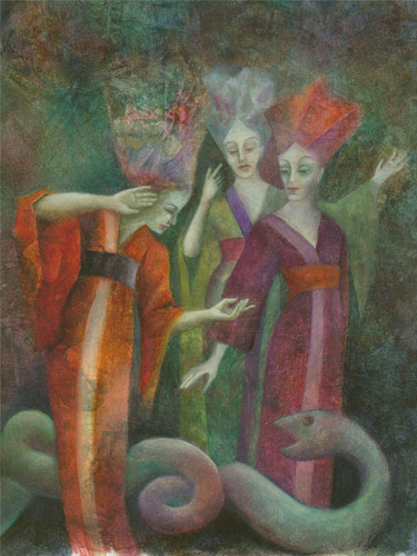 N.Klemz: las tres damas (La Flauta Mágica) {the three ladies (The Magic Flute)}