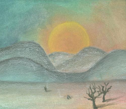 Klemz: puesta del sol en el desierto