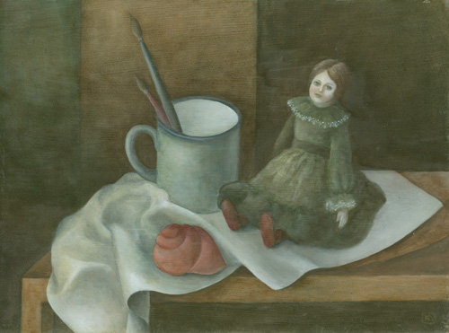 Klemz(Knop): still life with doll